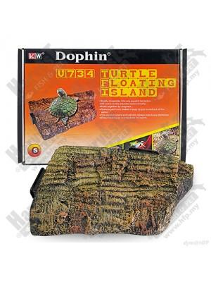 Salelė vėžliams plaukiojanti Dophin, 15x11x3 cm