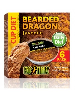 Barzdotojo drakono maistas, 150 g. (6 x 25 g.)