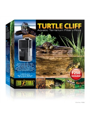 Vandens terariumo filtras - salelė Turtle Cliff 23x17x19.5cm