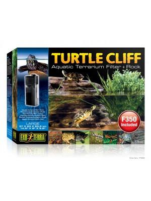 Vandens terariumo filtras - salelė Turtle Cliff 37x23x23.5cm